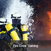 Fire crew training