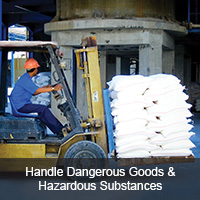 Handle dangerous goods & hazardous substances